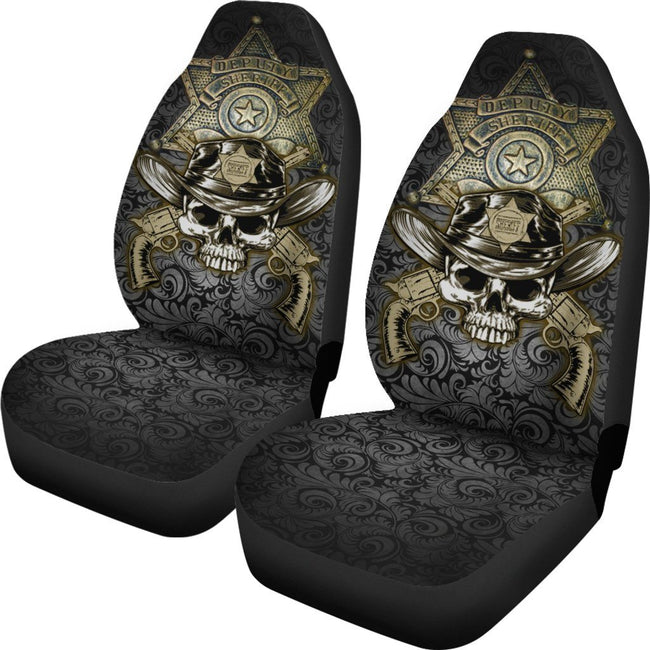Law Enforcement Sheriff Car Seat Cover Set Of 2