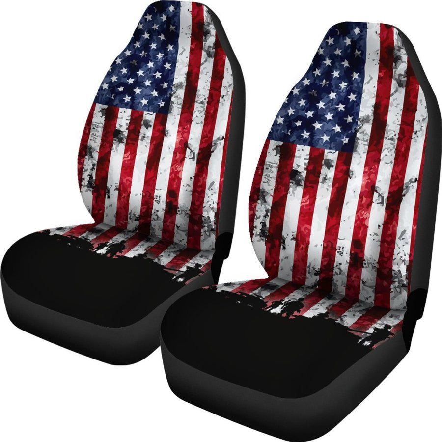 American Military Veteran Car Seat Covers Set Of 2 - $ 79.95