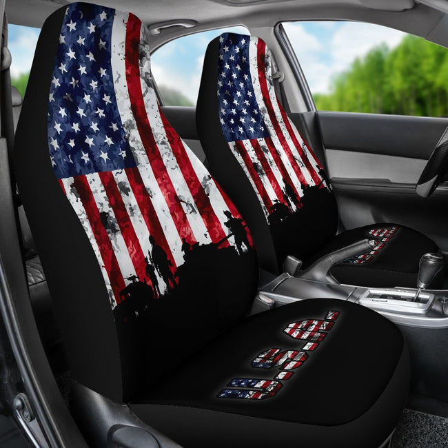 American Flag Military Patriotic Veteran Car Seats Cover - $ 50.00