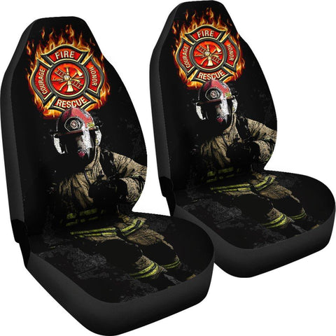 FIRE FIGHTER CAR SEAT COVERS