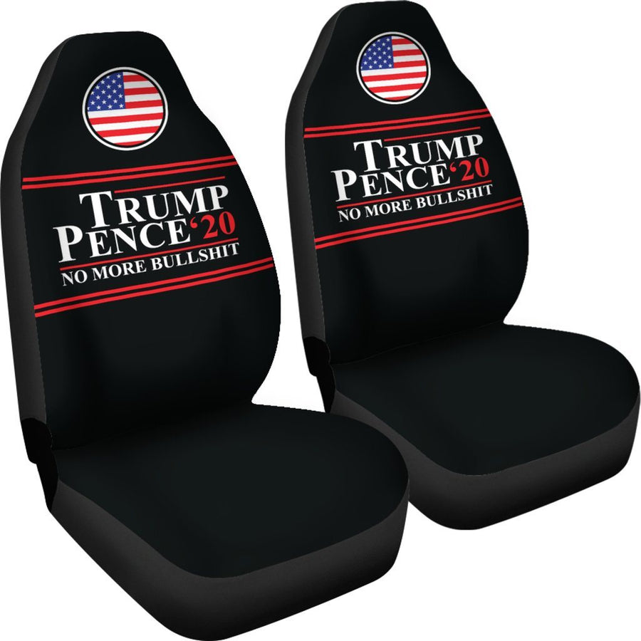 Trump Pence '20 No More Bullshit Car Seat Covers