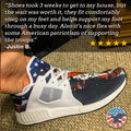 American Flag Military Patriotic Veteran Nomad Shoes - $ 89.00