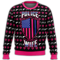Police Wife Premium Ugly Christmas Sweater