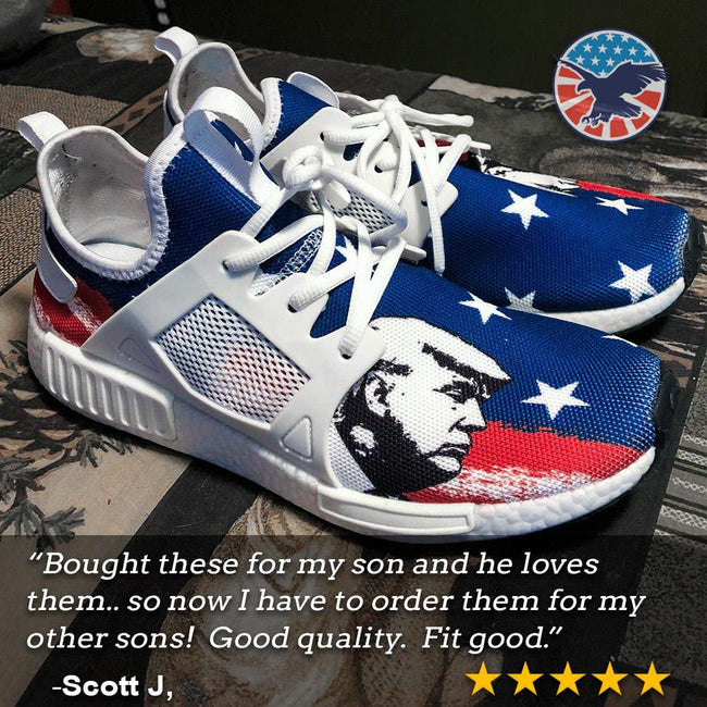 President Donald Trump American Flag Nomad Shoes - $ 89.00