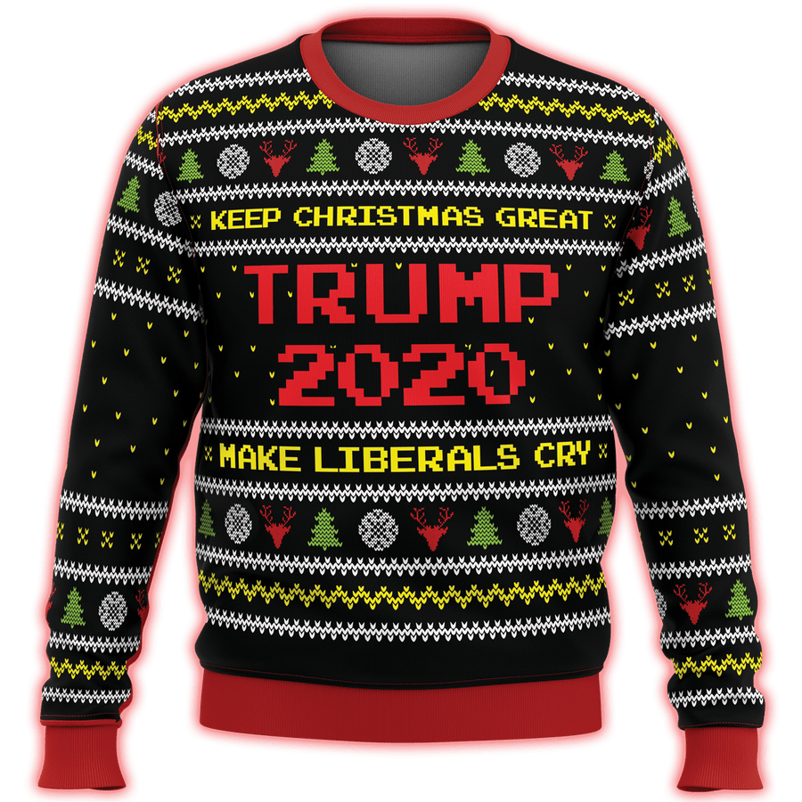 Trump Make Liberals Cry Premium Ugly Christmas Sweater - $ 49.00