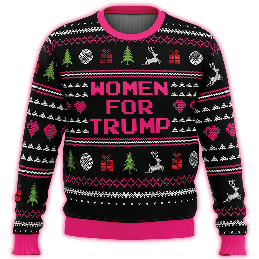 Women For Trump Premium Ugly Christmas Sweater - $ 49.00
