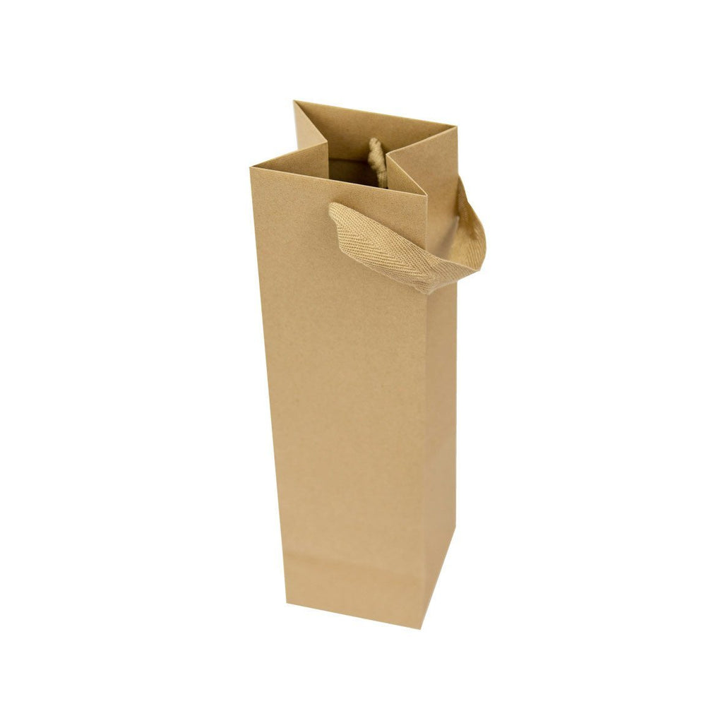 Finesse Kraft Bottle Bags - Gispac