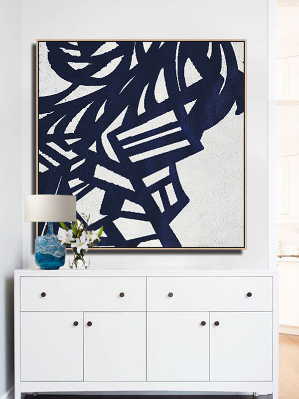 Navy Blue Minimalist Art