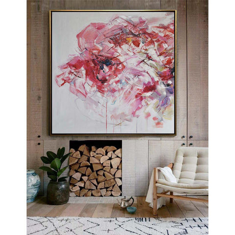 Abstract Flower Oil Painting #LX76A-Abstract Art-CZ Art Design(Celine Ziang Art)