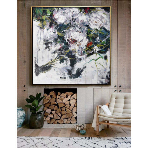 Abstract Flower Oil Painting #LX78A-Abstract Art-CZ Art Design(Celine Ziang Art)