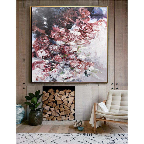 Abstract Flower Oil Painting #LX80A-Abstract Art-CZ Art Design(Celine Ziang Art)