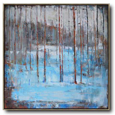 Abstract Landscape Oil Painting #LX17A-Abstract Art-CZ Art Design(Celine Ziang Art)