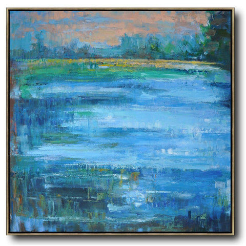 Abstract Landscape Oil Painting #LX18A-Abstract Art-CZ Art Design(Celine Ziang Art)