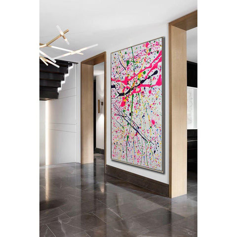 Contemporary Drip Painting #X82B-Contemporary Art-CZ Art Design(Celine Ziang Art)