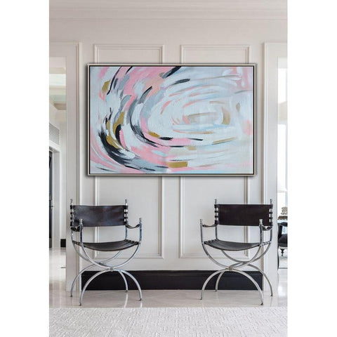 Horizontal Abstract Floral painting #X90C-Abstract Art-CZ Art Design(Celine Ziang Art)