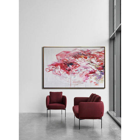 Horizontal Abstract Flower Painting #LX76C-Abstract Art-CZ Art Design(Celine Ziang Art)