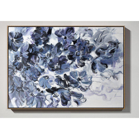 Horizontal Abstract Flower Painting #LX79C-Abstract Art-CZ Art Design(Celine Ziang Art)