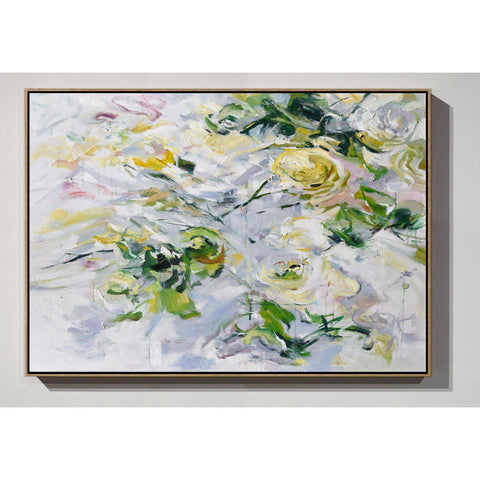 Horizontal Abstract Flower Painting #LX82C-Abstract Art-CZ Art Design(Celine Ziang Art)
