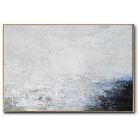 Horizontal Abstract Landscape Art #X124C-Abstract Art-CZ Art Design(Celine Ziang Art)