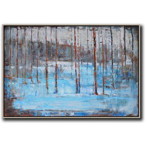 Horizontal Abstract Landscape Painting #LX17C-Abstract Art-CZ Art Design(Celine Ziang Art)