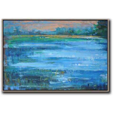 Horizontal Abstract Landscape Painting #LX18C-Abstract Art-CZ Art Design(Celine Ziang Art)
