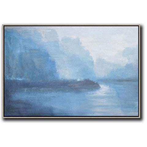 Horizontal Abstract Landscape Painting #LX20C-Abstract Art-CZ Art Design(Celine Ziang Art)