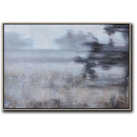 Horizontal Abstract Landscape Painting #LX21C-Abstract Art-CZ Art Design(Celine Ziang Art)