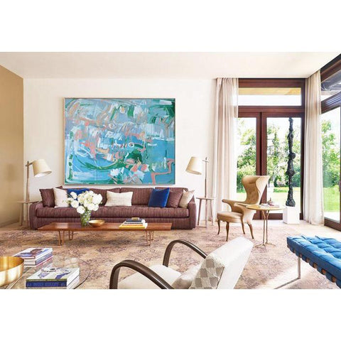 Horizontal Abstract Landscape Painting #LX23C-Abstract Art-CZ Art Design(Celine Ziang Art)