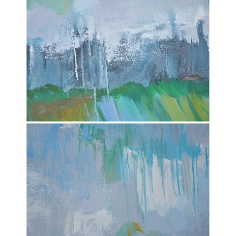 Horizontal Abstract Landscape Painting #LX24C-Abstract Art-CZ Art Design(Celine Ziang Art)