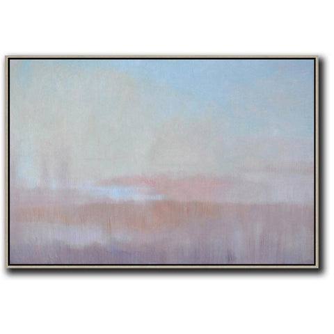 Horizontal Abstract Landscape Painting #LX26C-Abstract Art-CZ Art Design(Celine Ziang Art)
