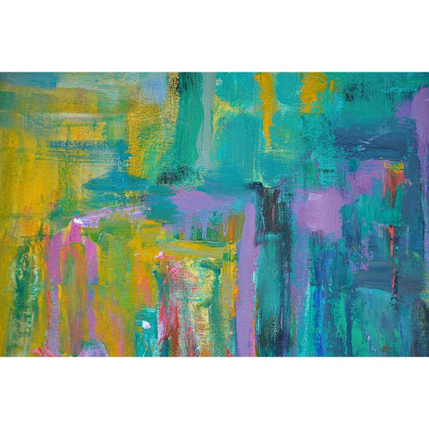 Horizontal Abstract Landscape Painting #LX28C-Abstract Art-CZ Art Design(Celine Ziang Art)