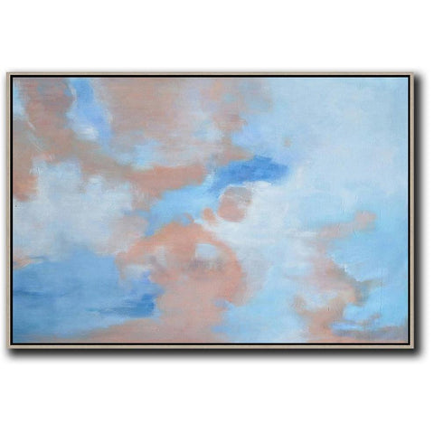 Horizontal Abstract Landscape Painting #LX31C-Abstract Art-CZ Art Design(Celine Ziang Art)