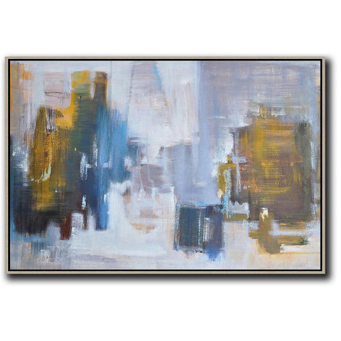 Horizontal Abstract Landscape Painting #LX32C-Abstract Art-CZ Art Design(Celine Ziang Art)