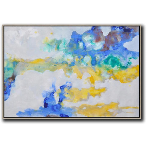 Horizontal Abstract Oil Painting #LX44C-Abstract Art-CZ Art Design(Celine Ziang Art)