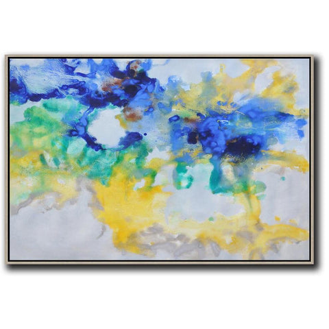 Horizontal Abstract Oil Painting #LX45C-Abstract Art-CZ Art Design(Celine Ziang Art)