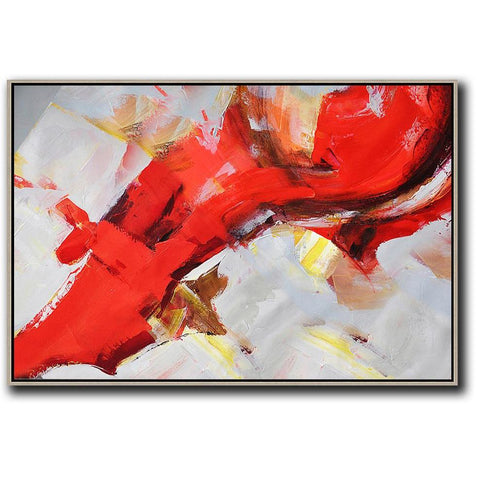 Horizontal Palette Knife Contemporary Art #C20C-Contemporary Art-CZ Art Design(Celine Ziang Art)