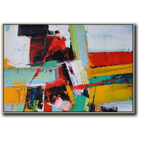 Horizontal Palette Knife Contemporary Art #C25C-Contemporary Art-CZ Art Design(Celine Ziang Art)