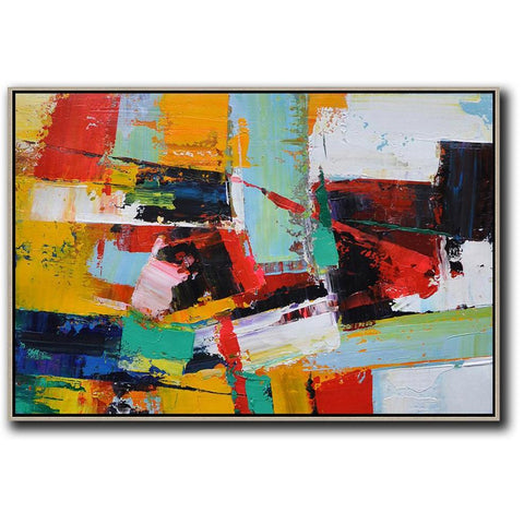 Horizontal Palette Knife Contemporary Art #C26C-Contemporary Art-CZ Art Design(Celine Ziang Art)