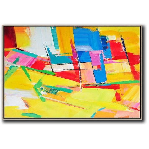 Horizontal Palette Knife Contemporary Art #C44C-Contemporary Art-CZ Art Design(Celine Ziang Art)