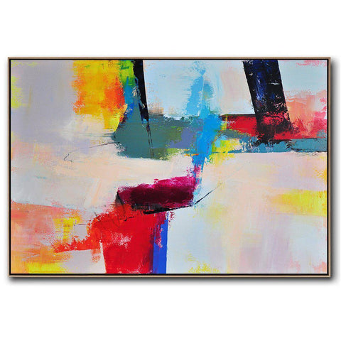 Horizontal Palette Knife Contemporary Art #C60C-Contemporary Art-CZ Art Design(Celine Ziang Art)
