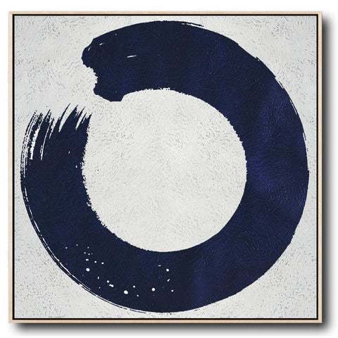 Navy and White Painting #NV15A-Minimal Art-CZ Art Design(Celine Ziang Art)