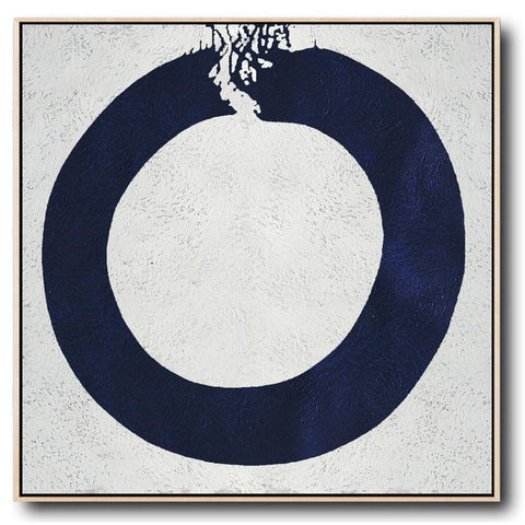 Navy and White Painting #NV18A-Minimal Art-CZ Art Design(Celine Ziang Art)