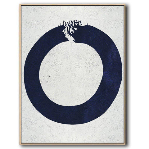Navy and White Painting #NV18B-Minimal Art-CZ Art Design(Celine Ziang Art)