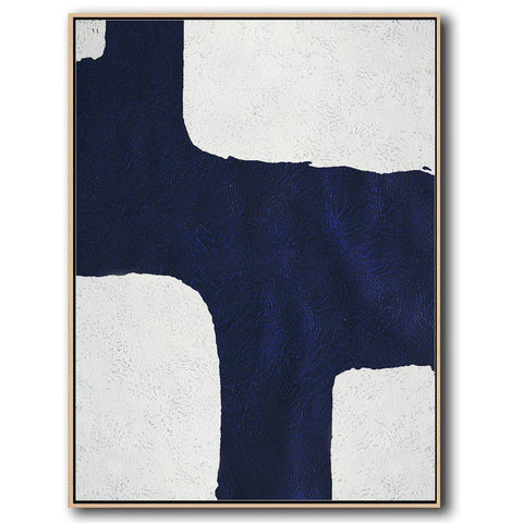 Navy and White Painting #NV2B-Minimal Art-CZ Art Design(Celine Ziang Art)