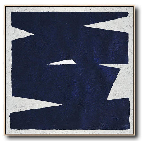 Navy and White Painting #NV30A-Minimal Art-CZ Art Design(Celine Ziang Art)