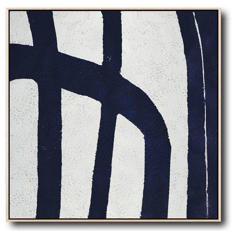 Navy and White Painting #NV36A-Minimal Art-CZ Art Design(Celine Ziang Art)