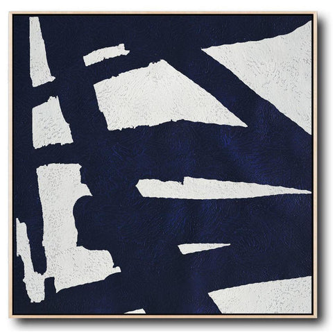 Navy and White Painting #NV43A-Minimal Art-CZ Art Design(Celine Ziang Art)