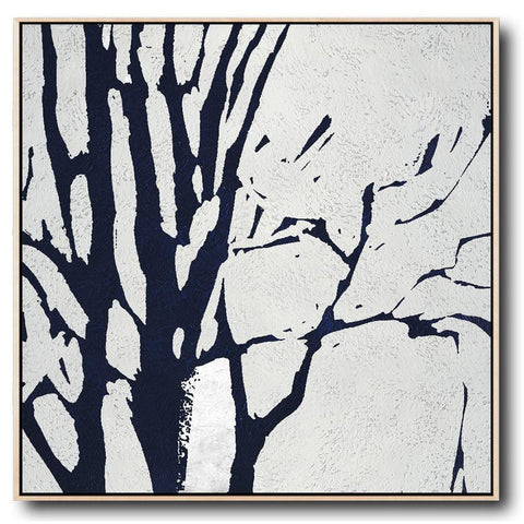 Navy and White Painting #NV7A-Minimal Art-CZ Art Design(Celine Ziang Art)