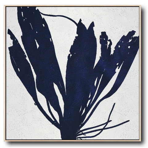 Navy and White Painting #NV9A-Minimal Art-CZ Art Design(Celine Ziang Art)