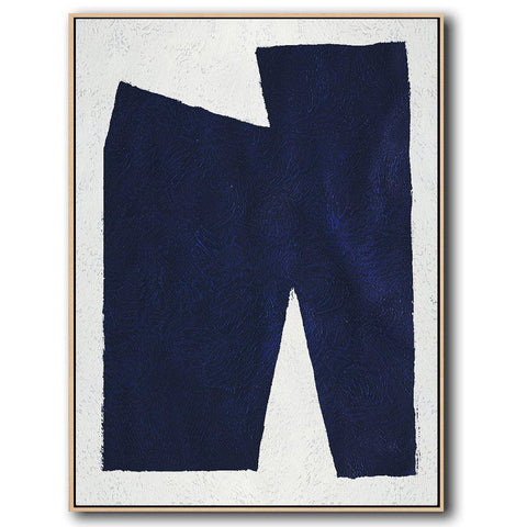 Navy Blue Minimal Art #NV121B-Minimal Art-CZ Art Design(Celine Ziang Art)